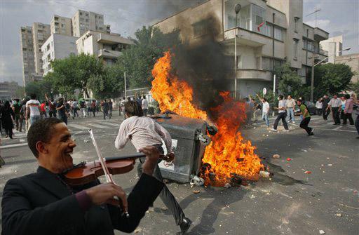 Obama fiddles while Tehran burns